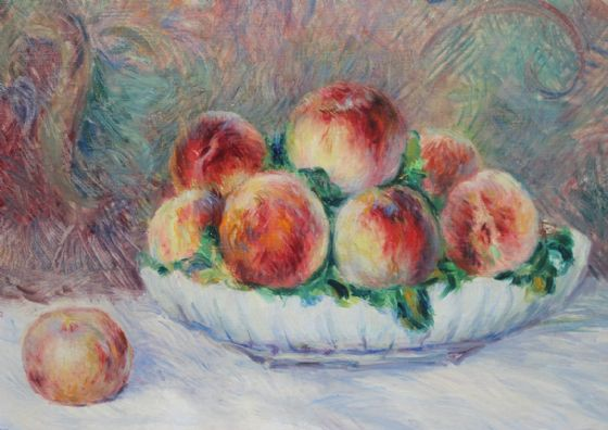 Renoir, Pierre Auguste: Peaches. Fine Art Print/Poster. Sizes: A4/A3/A2/A1 (004284)